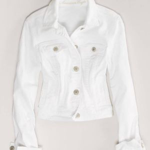 American Eagle White Denim Jacket